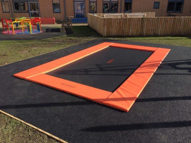 Rebound Therapy Sunken Trampoline Dolphin hoist sunken trampoline in ground trampoline